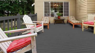 Des couleurs de terrasse étonnantes pour les nouveaux propriétaires