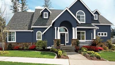 Couleurs de teinture de terrasse pour maisons bleues